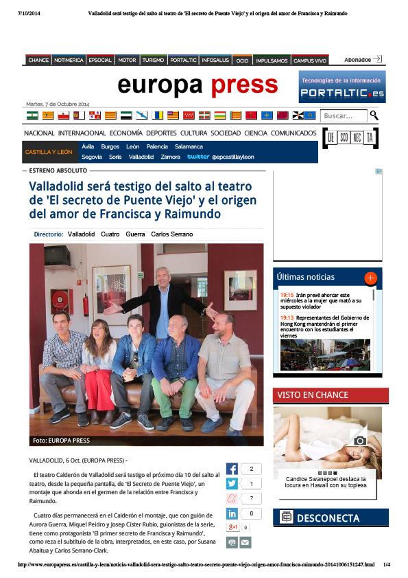 EUROPA PRESS - Sept. 2014