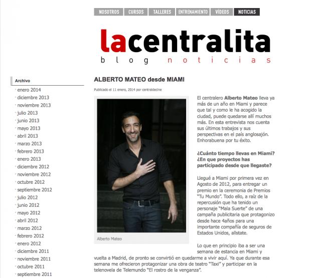 CENTRAL DE CINE - Enero 2014
