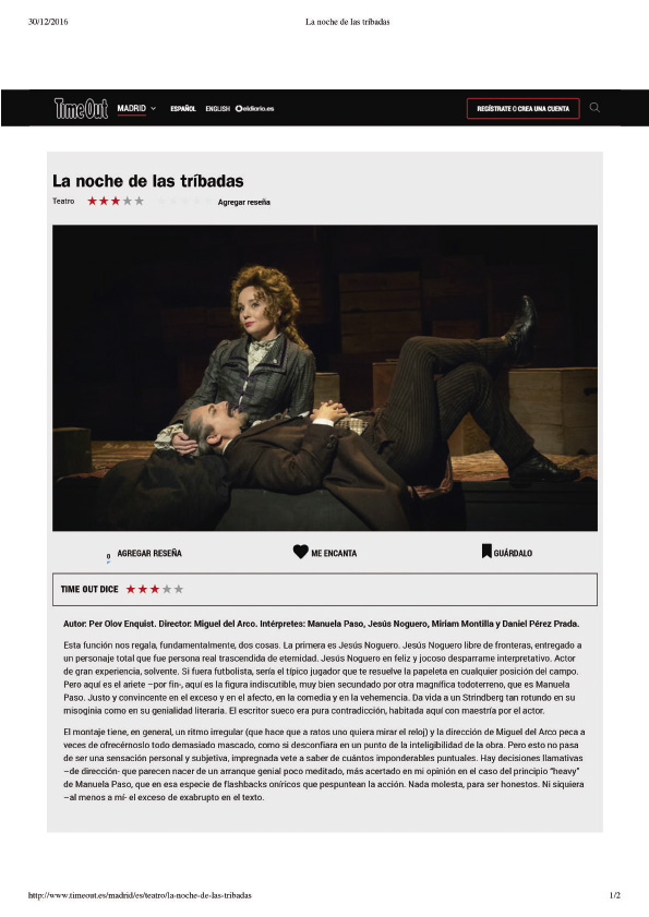 TIME OUT - Dic. 2016