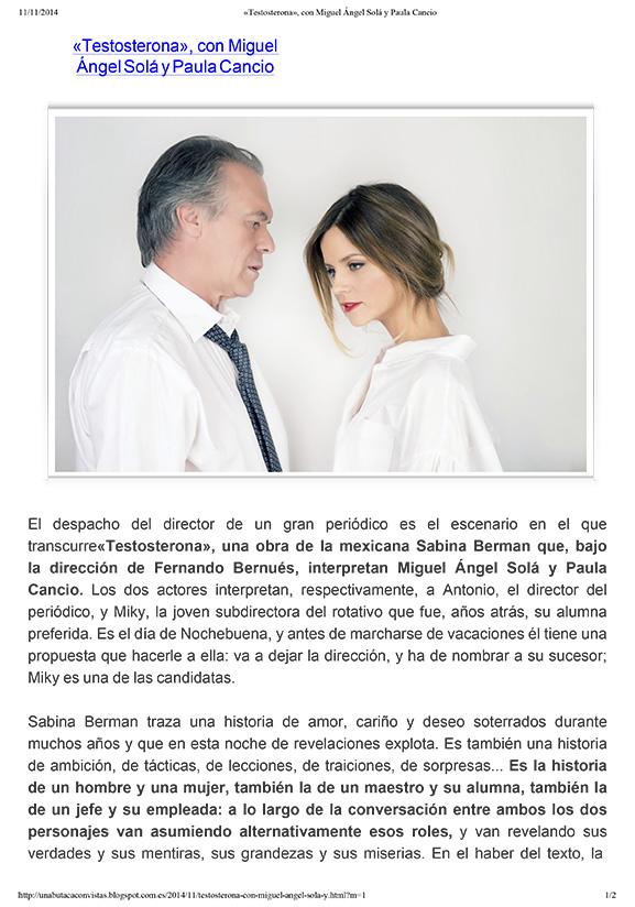 UNA BUTACA CON VISTAS - Nov. 2014