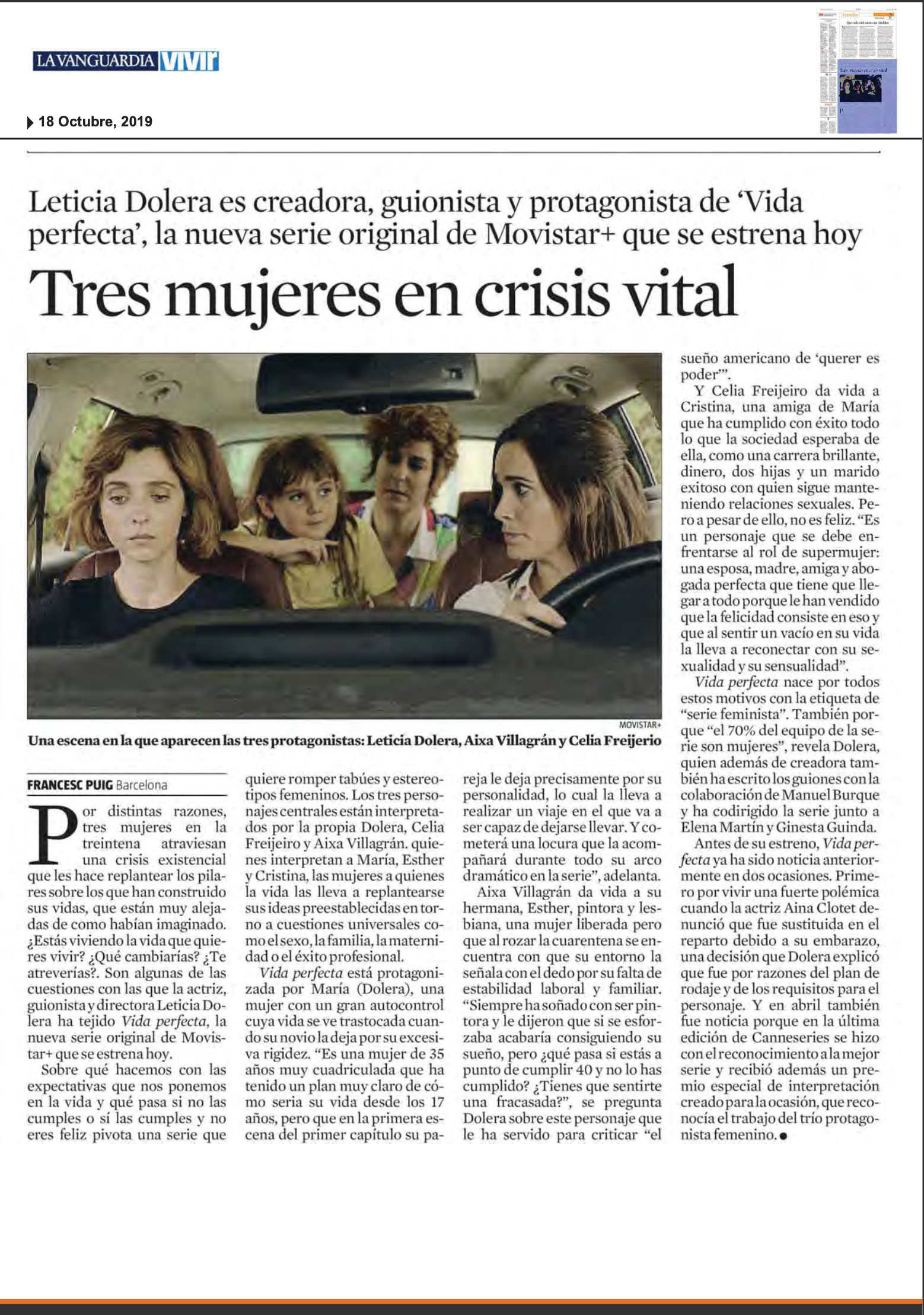 LA VANGUARDIA - Oct. 2019